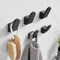Hooks & Rails Aluminium Alloy Clothes Bag Hanger Kitchen Storage Towel Hook For Bathroom Bath Accessories Modern Wall Door