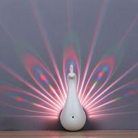 Neues Produkt LED Peacock Nachtlicht Wandlampe Vorsprung für Schlafzimmer Nachttisch Hintergrund Channel Treppe Romantische Dekoration Crestech Fedex ups