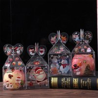 Christmas Eve Gift Wrap Transparent Boxes Apples Decoration Gifts Cases Plastic Square Candies Organizer Originality 0 83lh F2