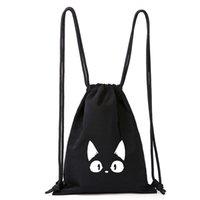 Anime Merchandise Cute Black Cat Little Jiji Drawstring Bag Simple Outdoor Travel Small Backpack Drawstring Backpack