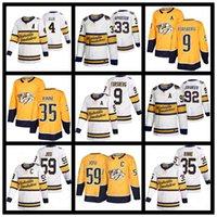 Nashville Predators Hockey Jerseys 9 Filip Forsberg 59 Roman Josi 33 Viktor Arvidsson 35 Pekka Rinne 4 Ryan Ellis 95 Matt Duchene Jersey Shirt Uniforme