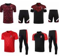 AC Milan Futbol Eşofman Kitleri Polo Gömlek 20/21 Survetement Futbol Eğitim Takım Seti