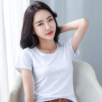 GKFNMT хлопок с коротким рукавом Tops T рубашка женская футболка корейский стиль футболка женская одежда стройная летняя футболка FEEME 2020 5XL 4XL V5N3 #