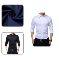 Men's Dress Shirts Cardigan Simple Turn-down Collar Male Top Formal Long Sleeve For Daily Wear