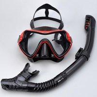 Verres de plongée Skinkel costume pour hommes et femmes adultes grand cadre de silicone miroir de la baignade masque de masque de plongée en apnée