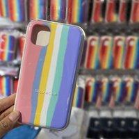 2021 Gökkuşağı Silikon Cep Telefonu Kılıfları Için iPhone 13 12 11 x XR Arka Kapak ile Perakende Paketi