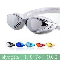 Wasserbrille Frauen -1,0 ~ -10 Brillen Wasserdichte Gläser Schwimmen Arena Myopie Männer Schwimmen Precription Big Anti-Nebel Tauchen Silikon Masken