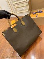 Moda Onthego M44576 M44925 Kadın Lüks Tasarımcılar Çanta 2021 Hakiki Deri Çanta Messenger Crossbody Omuz Çantası Tote Cüzdan Çanta Kadın Sırt Çantası