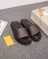 2021 Klassische Hausschuhe Luxus Designer Schuhe Männer und Frauen Sommer Strand Sandale Mode Blumen Buchstaben Startseite Sandalen mit Kastengröße 35-45