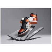 1 High OG Mens Satin Shattered Backboard colorway Basketball Shoes 1s Black Starfish-Sail-Black boys sports Sneakers AV3725-010