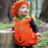 Clothing Sets 0-3Y Ly Cosplay Halloween Toddler Baby Kid Pumpkin Print Sleeveless Romper Jumpsuits Tops+Hats Clothes 2PCS Costumes