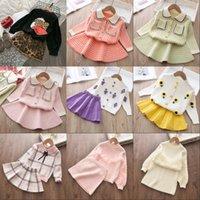 Bear Leader Girls Winter Ropa de invierno Set de manga larga Suéter Falda de camisa 2 PCS Ropa Traje Bow Baby Outfits para niños Ropa de niñas 762 Y2