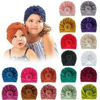Kids Girl Infant Beanie Hat Bow Knot Turban Cap Newborn Head Wraps Headband Beanie Caps Kids Infant Toddler Wide Hair Band Headdress