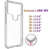 Universal Choque Absorção Casos Airbag Anti-Knique TPU Clear Transparente Air Cushion Caso à prova de choque para iPhone Samsung Moto Huawei Xiaomi Redmi LG OnePlus