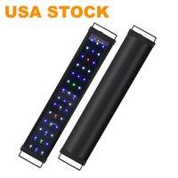 ضوء الحوض عكس الضوء LED أضواء خزان الأسماك مع التحكم 2 القناة البيضاء والأزرق المصابيح عالية الناتج الولايات المتحدة الأمريكية