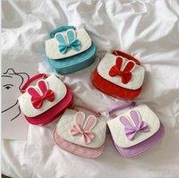 Çocuk Crossbody Çanta Çocuklar Ilmek Tasarımcısı Çanta Sevimli Sikke Çantalar Kontrast Renk Tek Omuz Çanta Küçük Cüzdanlar Prenses Messenger Çanta WMQ884