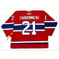 Пользовательские 009 Молодежные женщины Vintage # 21 парень Cookneau Montreal Canadiens 1993 CCM Hockey Jersey Size S-5XL или пользовательское любое имя или номер