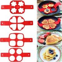 Anillo de panqueques de huevo Nonstick Maker Molde Cocina de silicona Herramientas de huevo frito Shaper Moldes de tortilla para la cocina Accesorios para hornear