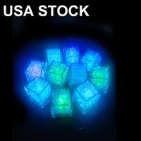 Neuheit Beleuchtung LED Eiswürfel Beleuchtung Bar Schneller langsamer Blitz Autowechsel Crystal Cube Water-Actived Beleuchtung 7 Farbe Für Romantische Party Hochzeit Weihnachtsgeschenk USA Lagerbestand