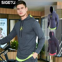 Gym Clothing Men' Outdoor Sports Hoodies Moisture Absorption Breathable Stylish Letters & Logo Prints Bottom Decoration Man Fitting Wears
