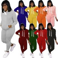Women Tracksuits fall winter clothing pure color sexy club fleece pants sports suits pullover leggings outfits long sleeve bodysuits capris hoddies fitness 01568