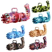 Electric Gatling Bubble Toy Gun Automatic Blowing Machine With Fan Summer Outdoor Kid Party Gift Favor