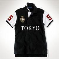 Poloshirt bordado manga curta homens tshirt Tóquio Roma Dubai Los Angeles Chicago New York Berlin Madrid Camisetas M L XL 2XL Dropshipping