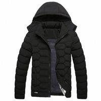 Nuovi arrivi Giacca invernale per uomo Addensare Outwear caldo Rimovibile con cappuccio con cappuccio con cappuccio in cotone Parkas Stand Collar Parka G835 #
