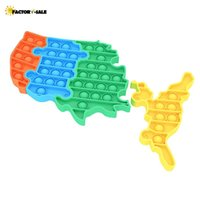 Favor de Fiesta Juguetes para niños Estados Unidos Fidget Mapa Mapa Problemas Gadgets Puzzle DecomPresion Toy Squeeze Music FM22