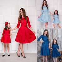 Casual Dresses Family Dress Women Mother Daughter Matching Spring Summer Girl Formal Party Clothes Outfits