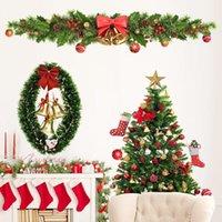 زينة عيد الميلاد 4PSC / مجموعة ملصقات ويندوز السنة على الأرامل 2022
