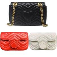 Высочайшее качество 2021 роскошь дизайнеры сумки Marmont Милая сумка сумка сумка мессенджера женские сумки модные сумки классические Crossbody кошелек сцепления кошелек