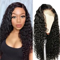 Alibonnie 13X4 Kinky Curly Wig With Baby Hair Remy Lace Fron...