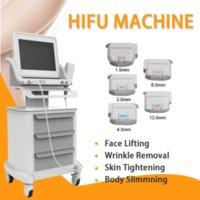 휴대용 HIFU 얼굴 리프트 스킨 케어 가정 및 살롱 사용 3 및 5 HIFU 카트리지가있는 고강도 초음파 기계