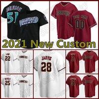 28 Hector Rondon 51 Randy Johnson Jersey personalizzato baseball Diamondbacks56 Kole Calhoun 5 Eduardo Escobar 4 Ketel Marte Jackie Robinson