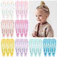 헤어 액세서리 10p / 20pcs / lot 인쇄 BB 클립 소녀 꽃 프린트 헤어핀 아이들이 달콤한 클립 머리 장식 어린이