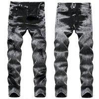 Erkekler Denim Kot Büyük Boy Eğilim Yırtık Kot Pantolon Yüksek Kalite Vintage Yıkanmış Kot Erkek Pantolon