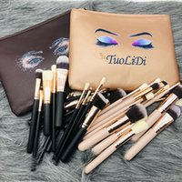 15pcs Makeup Brushes Set Cosmetic Pro Make Up Tool Brush Kit Wood Handle Synthetic Hair