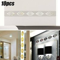 Wall Stickers 10x 3D Mirror Flower Removable Sticker Mural Decal Bedroom Home Art Decor