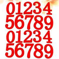 Magneti del frigorifero 2 set Numeri in legno Adesivi per magneti Mathematics Numero formato frigorifero Magnetico giocattoli educativi per bambini (rosso)