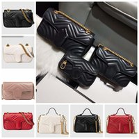 Diseñadores de lujos clásicos 3 Tamaño Real Cuero genuino Bolsas de cuero de alta calidad Moda Moda Marmont Crossbody Bolsos Bolsos Monederos Mochila Tote Hombro Free Shippin