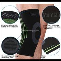 Shin Fitness Sile Antislip Knit Sport Knee Sleeve Brace Guard Pad Protector Kzdsn Yhxz2