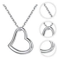 Pendentif Colliers Heart Charm Col Collier Collier Pull Foulard Bijoux Silver Clavicule Chaîne