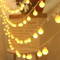 سلاسل AC 220 فولت 10 متر 20 متر 30 متر 50 متر ماتي الكرة أدى سلسلة ضوء عيد الميلاد جارلاند لقضاء عطلة حزب الزفاف المنزل في الهواء الطلق ديكور للماء