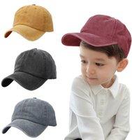 어린이 야구 모자 레트로 순수한 색 공 모자 아이 씻어 빛 모자 여름 햇빛 모자 8colors WMQ1189