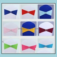 Ers Textiles Home & Gardenwedding Er Sashes Elastic Spandex Chair Band Bow With Buckle For Weddings Event Party Aessories Owa8299 Drop Deliv