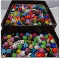 Lösa pärlor smycken! 10mm Blandad Micro Pave CZ Disco Ball Crystal Shamballa Bead Armband Halsband BEADS.SEC Partihandel! Lager! Blandad droppe deli