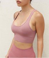 Frauen elastische Sport-BH-Stoßdämpfungsweste enge nahtlose laufende Yoga-Fitness-Unterwäsche