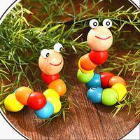 Turnistes colorés, chenilles, poupées d'animaux, jouets éducatifs en bois, Cerveaux d'enfants d'enfants