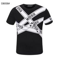 DSQ PHANTOM TURTLE SS Mens Designer T shirt Italian fashion Tshirts Summer DSQ Pattern T-shirt Male High Quality 100% Cotton Tops 60214